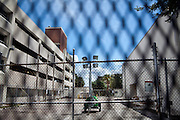 Much of downtown Tampa is fenced-off and empty for the Republican National Convention, August 30, 2012.