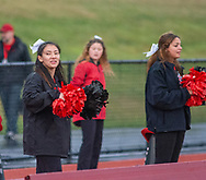 Hatboro Horsham cheerleaders perform in the first quarter of the Hatboro Horsham at Souderton football game Friday, September 06, 2019 at Souderton High School in Franconia, Pennsylvania. (WILLIAM THOMAS CAIN / PHOTOJOURNALIST)