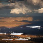 The Lochans of Rannoch Moor. (front to back) Lochan Mathair Eite, Lochan Gaineamhach and Loch Ba