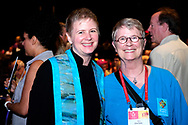 Service of the Living TraditionLara Fuchs ((preliminary fellowship)   her mother , also a minister, is with her  Charlotte Cowtan.  ©NancyPierce/UUA