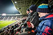 ALKMAAR - 21-01-2017, AZ - Sparta, AFAS Stadion, app, wifi