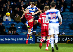 Hordur Magnusson of Bristol City and Matt Smith of Queens Park Rangers compete for the ball - Rogan/JMP - 23/12/2017 - Loftus Road - London, England - Queens Park Rangers v Bristol City - Sky Bet Championship.