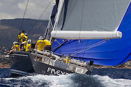 SPAIN, Palma. 22nd June 2013. Superyacht Cup. Freya, 91ft (27.7m), designed by German Frers, built by Nautor's Swan.