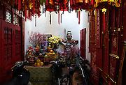 One of the Old Quarter of Hanoi's many family shrines.