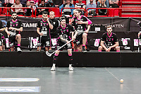 2019-04-27 |Stockholm | IBF Falun (7) Rasmus Enström during the Final Game in SSL Floorball between Storvreta IBK and IBF Falun at Globen Arena. (Photo by: Daniel Carlstedt | Swe Press Photo).