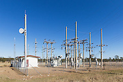 rural electricity high voltage power sub-station in Coominglah, Queensland, Australia <br />