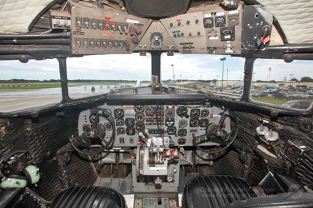"A view of the instrument panel inside ""Western Air Lines"" DC-3, NC33644"