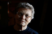 Elsie Eiler poses for a portrait in the tavern she runs in the village of Monowi, Nebraska April 28, 2011. Eiler is the person living in Monowi making it the only incorporated town, village or city in the United States with only one resident.  REUTERS/Rick Wilking (UNITED STATES)