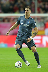 13.01.2019, Merkur Spiel Arena, Duesseldorf, GER, Telekom Cup, Fortuna Duesseldorf vs FC Bayern Muenchen, im Bild Niklas Suele (Muenchen) mit Ball // during the Telekom Cup Match between Fortuna Duesseldorf and FC Bayern Muenchen at the Merkur Spiel Arena in Duesseldorf, Germany on 2019/01/13. EXPA Pictures © 2019, PhotoCredit: EXPA/ Eibner-Pressefoto/ Mario Hommes<br /> <br /> *****ATTENTION - OUT of GER*****