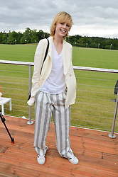 EDIE CAMPBELL at the Audi Polo Challenge at Coworth Park, Blacknest Road, Ascot, Berkshire on 31st May 2015.