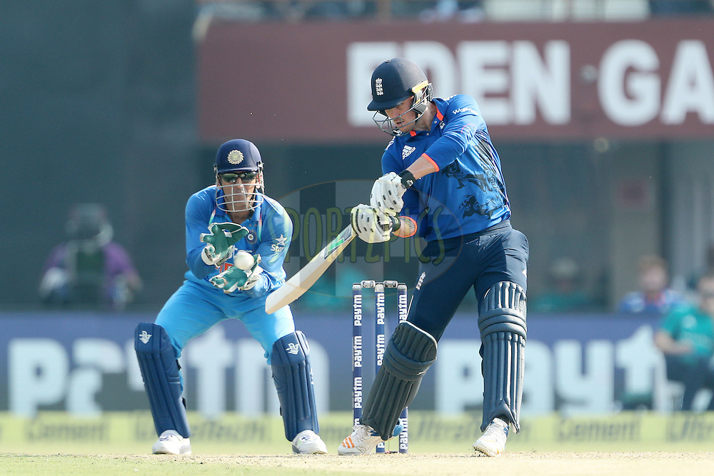 Jason Roy of England during the third One Day International (ODI) between India and England  held at Eden Gardens in Kolkata on the 22nd January 2017<br /> <br /> Photo by: Ron Gaunt/ BCCI/ SPORTZPICS