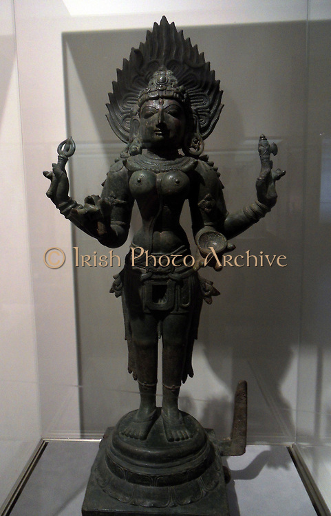 The Hindu goddess Kali. Chipault Period, 12th century, Chola dynasty (850-1100 AD) bronze. Tamil Nadu (state) India
