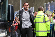 Derby County Manager Frank Lampard arrives off the club coach during the The FA Cup 5th round match between Brighton and Hove Albion and Derby County at the American Express Community Stadium, Brighton and Hove, England on 16 February 2019.