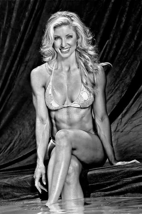 Randalene Sergent right after winning Overall Bikini at the NPC Southern California Bodybuilding Championships in San Diego CA.