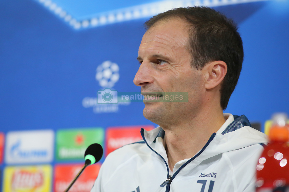 February 12, 2018 - Turin, Piedmont, Italy - Massimiliano Allegri, head coach of Juventus FC, during the Juventus FC press conference on the eve of the first leg of the Round 16 of the UEFA Champions League 2017/18 between Juventus FC and Tottenham Hotspur FC at Allianz Stadium on 12 February, 2018 in Turin, Italy. (Credit Image: © Massimiliano Ferraro/NurPhoto via ZUMA Press)