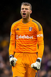 Marcus Bettinelli of Fulham celebrates his side scoring a goal - Mandatory by-line: Robbie Stephenson/JMP - 26/08/2018 - FOOTBALL - Craven Cottage - Fulham, England - Fulham v Burnley - Premier League
