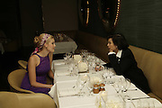 Maggie Grace and Bianca Jagger,  Natalia Vodianova and Elle Macpherson host a dinner in honor of Francisco Costa (creative Director for women) and Italo Zucchelli (creative director for men)  of Calvin Klein. Locanda Locatelli, 8 Seymour St. London W1. ONE TIME USE ONLY - DO NOT ARCHIVE  © Copyright Photograph by Dafydd Jones 66 Stockwell Park Rd. London SW9 0DA Tel 020 7733 0108 www.dafjones.com