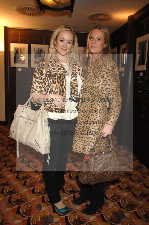 Left to right, ELLIE SHEPHERD and ALICE DAWSON at an exhibition of photographs by Olivia Buckingham held at China Tang, The Dorchester, Park Lane London on 5th March 2007.<br />