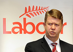 Wellington-Labour Leader David Cunnliffe, pre caucus press conference