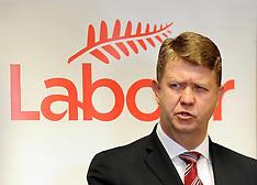 Wellington-Labour Leader David Cunnliffe, pre caucus press conference