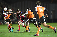 Dragons' Arwel Robson in action in tonights game.<br /> <br /> Photographer Mike Jones/Replay Images<br /> <br /> Guinness PRO14 Round Round 18 - Dragons v Cheetahs - Friday 23rd March 2018 - Rodney Parade - Newport<br /> <br /> World Copyright © Replay Images . All rights reserved. info@replayimages.co.uk - http://replayimages.co.uk