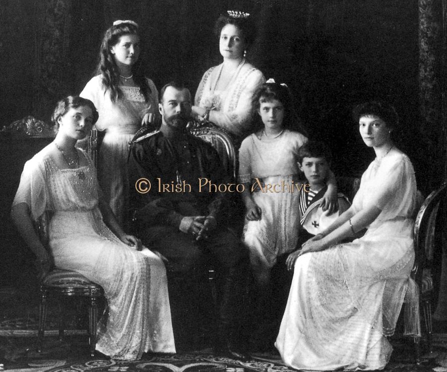 Portrait by the Levitsky Studio, the last Russian Royal Family, Livadia, 1914.