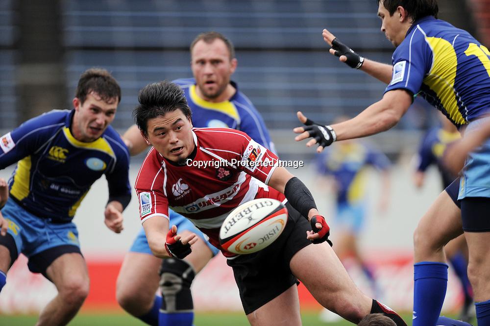 Ayumu Goromaru (JPN), APRIL 25, 2009 - Rugby : HSBC Asian 5 Nations 2009 between Japan 87-10 Kazakhstan at Kintstsu Hanazono Rugby Grouns, Tokyo, Japan. (Photo by Atsushi Tomura/AFLO SPORT) [1035]