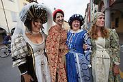 Castelfranco Emilia, Festa di San Nicola - Sagra del Tortellino (Tortellini Festival).<br /> Monica Larner, Dama 2011 (blue dress) and friends.
