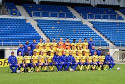 July 12, 2017 - Beveren, BELGIUM - (Top L-R); Waasland-Beveren's Doctor Raja De Beer; Waasland-Beveren's Doctor Frank de Winter; 20 Waasland-Beveren's Aaron Dhondt; 32 Waasland-Beveren's Olivier Myny; 11 Waasland-Beveren's Alessandro Cerigioni; 98 Waasland-Beveren's Mathias Janssens; 18 Waasland-Beveren's goalkeeper Merveille Goblet; 22 Waasland-Beveren's Nana Opoku Ampomah; 27 Waasland-Beveren's Maxim Nys; Waasland-Beveren's Ryota Morioka; Waasland Beveren's kine Thomas De Jonghe;(center L-R); Waasland-Beveren's delegate Rudi De Bruycker; Waasland-Beveren's caregiver Marc Delaruelle; 03 Waasland-Beveren's Niels De Schutter; Waasland-Beveren's Jur Schrijvers; 29 Waasland-Beveren's Senne Van Dooren; 24 Waasland-Beveren's Jens Cools; 02 Waasland-Beveren's Erdin Demir; 12 Waasland-Beveren's Julian Michel; 08 Waasland-Beveren's Francois Marquet; 21 Waasland-Beveren's Laurent Jans; Waasland-Beveren's equipment manager Willy Van De Velde; Waasland-Beveren's equipment manager Lucien De Coen; (Low L-R); Waasland-Beveren's physical coach Jonas Ivens; 07 Waasland-Beveren's Aleksandar Boljevic; 15 Waasland-Beveren's Ibrahima Seck; 14 Waasland-Beveren's Nicolas Orye; 04 Waasland-Beveren's Valtteri Moren; 05 Waasland-Beveren's Jonathan Buatu Mananga; Waasland-Beveren's assistant coach Johan Van Rumst; Waasland-Beveren's new head coach Philippe Clement; Waasland-Beveren's assistant coach Dirk Geeraerd; 69 Waasland-Beveren's Rudy Camacho; 09 Waasland-Beveren's Zinho Gano; 28 Waasland-Beveren's Floriano Vanzo; 23 Waasland-Beveren's Maximiliano Caufriez; 16 Waasland-Beveren's Cherif Ndiaye Pape; Waasland-Beveren's keepers coach Gerry Oste pictured during the 2017-2018 season photo shoot of Belgian first league soccer team Waasland-Beveren, Wednesday 12 July 2017 in Beveren. BELGA PHOTO LUC CLAESSEN (Credit Image: © Luc Claessen/Belga via ZUMA Press)