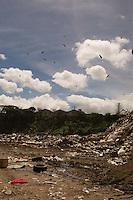 A massive trash dump in Guatemala City, Guatemala.