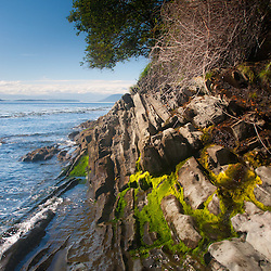 Shoreline and Boundary Pass, Stuart Island, Washington, US