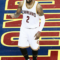 10 June 2016: Cleveland Cavaliers guard Kyrie Irving (2) reacts during the Golden State Warriors 108-97 victory over the Cleveland Cavaliers, during Game Four of the 2016 NBA Finals at the Quicken Loans Arena, Cleveland, Ohio, USA.