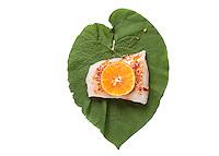 4. Add one slice tangerine.