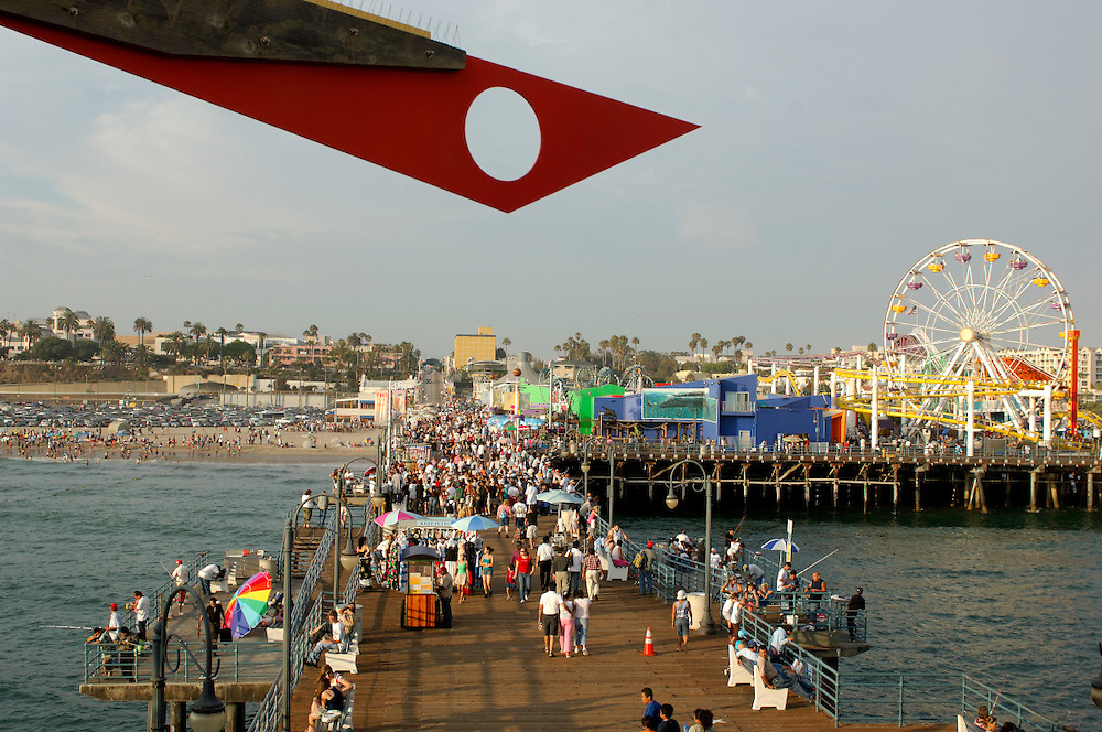 Santa Monica Pier, Santa Monica Beach, Santa Monica, Los Angeles, California, United States of America