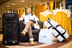 28.01.2014,  Marriott, Wien, AUT, Sochi 2014, Einkleidung OeOC, im Bild Elisabeth Görgl (Ski Alpin, AUT) // Elisabeth Görgl (Ski Alpine, AUT) during the outfitting of the Austrian National Olympic Committee for Sochi 2014 at the  Marriott in Vienna, Austria on 2014/01/28. EXPA Pictures © 2014, PhotoCredit: EXPA/ JFK
