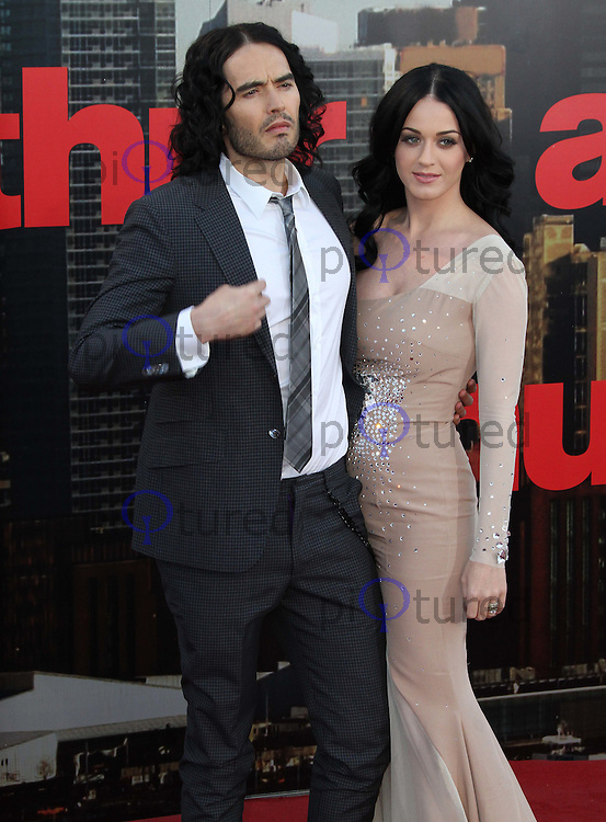 Russell Brand; Katy Perry Arthur European Premiere, The O2, North Greenwich, London, UK, 19 April 2011:  Contact: Rich@Piqtured.com +44(0)7941 079620 (Picture by Richard Goldschmidt)