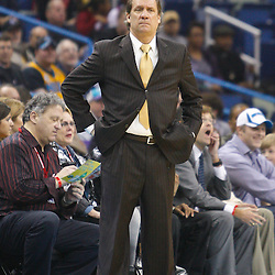 February 1, 2011; New Orleans, LA, USA; Washington Wizards head coach Flip Saunders against the New Orleans Hornets during the first quarter at the New Orleans Arena.   Mandatory Credit: Derick E. Hingle