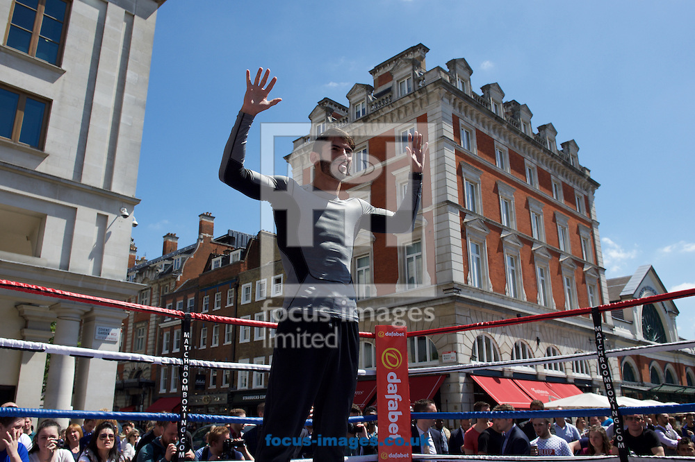 Kevin Mitchell's opponent for the WBC world lightweight title Jorge Linares during a public workout in Covent Garden, London<br /> Picture by Alan Stanford/Focus Images Ltd +44 7915 056117<br /> 26/05/2015