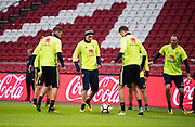 AMSTERDAM, NEDERL&Auml;NDERNA - 2017-10-09: Victor Lindel&ouml;f under tr&auml;ning inf&ouml;r FIFA 2018 World Cup Qualifier mellan Nederl&auml;nderna och Sverige p&aring; Amsterdam ArenA  den 9 oktober, 2017 i Amsterdam, Nederl&auml;nderna. <br /> Foto: Nils Petter Nilsson/Ombrello<br /> ***BETALBILD***