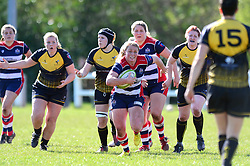 Izzy Noel Smith of Bristol Ladies charges forward  - Mandatory by-line: Dougie Allward/JMP - 26/03/2017 - RUGBY - Cleve RFC - Bristol, England - Bristol Ladies v Wasps Ladies - RFU Women's Premiership