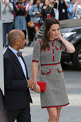 © Licensed to London News Pictures. 29/06/2017. London, UK. The Duchess of Cambridge arrives to tour the V&A Exhibition Road Quarter's new spaces including The Sackler Courtyard, The Blavatnik Hall and The Sainsbury Gallery. Photo credit: Dinendra Haria/LNP