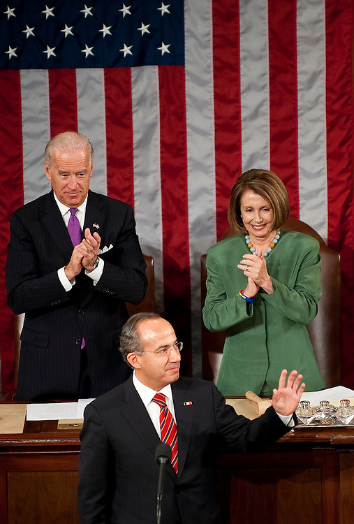 May 20, 2010 - Washington, District of Columbia, U.S., - Mexican President Felipe Calderon addresses lawmakers during a Joint Meeting of Congress in the House chamber on Thursday.(Credit Image: © Pete Marovich/ZUMA Press)