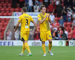 Tom Lockyer of Bristol Rovers applauds the fans - Mandatory byline: Neil Brookman/JMP - 07966386802 - 29/08/2015 - FOOTBALL - Matchroom Stadium -Leyton,England - Leyton Orient v Bristol Rovers - Sky Bet League Two