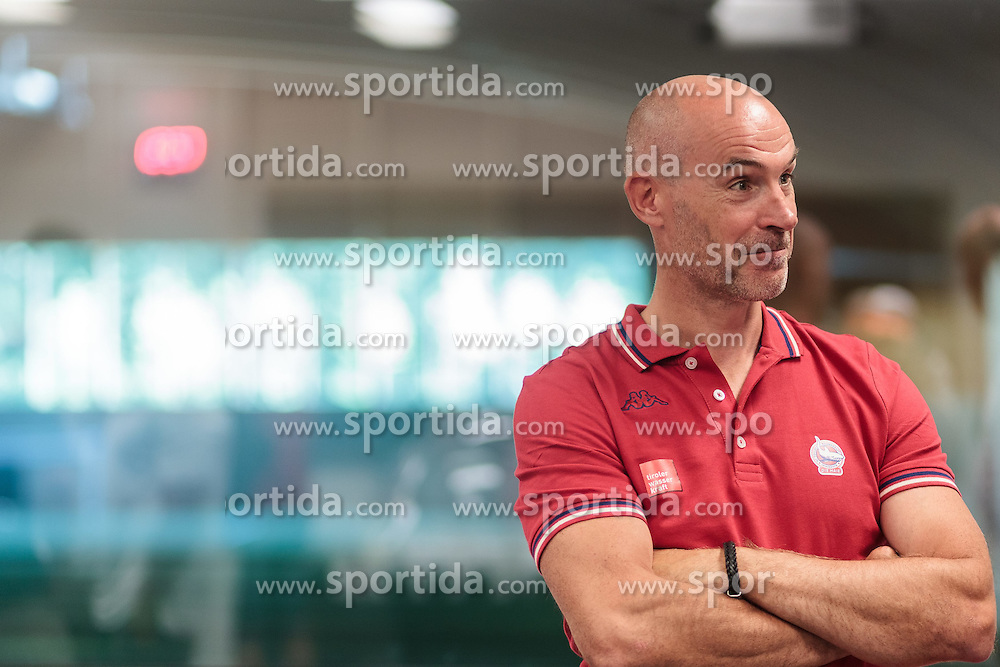 10.08.2015, Red Bull Akademie Liefering, Salzburg, AUT, EBEL, Medien Tag, im Bild Trainer Christer Olsson (HC Tiroler Wasserkraft Innsbruck) // during the Erste Bank Icehockey League Media Day at the Red Bull Football and Icehockey Academy Liefering in Salzburg, Austria on 2015/08/10. EXPA Pictures © 2015, PhotoCredit: EXPA/ JFK