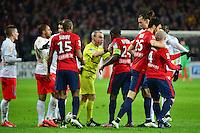 Lionel JAFFREDO / Rio MAVUBA - 03.02.2015 - Lille / Paris Saint Germain - 1/2Finale Coupe de la Ligue<br />Photo : Dave Winter / Icon Sport