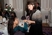 Rachael Barrett;  Daniella Issa Helayel,  Liberatum 10th Anniversary dinner in honour of Sir Peter Blake. Hosted by Pable Ganguli and Ella Krasner. The Corinthia Hotel, Whitehall. London. 23 November 2011.