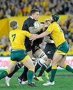 Sonny Bill Williams on the Charge, Rugby Championship. Australia v All Blacks at ANZ Stadium, Sydney, New Zealand. Saturday 18 August 2012. New Zealand. Photo: Richard Hood/photosport.co.nz