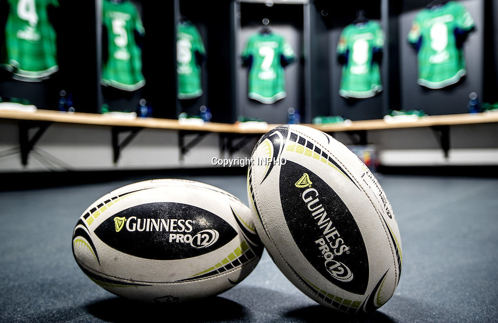 Guinness PRO12, Sportsground, Galway 10/9/2016<br /> Connacht vs Ospreys<br /> A view of the Connacht dressing room before today's game<br /> Mandatory Credit &copy;INPHO/James Crombie