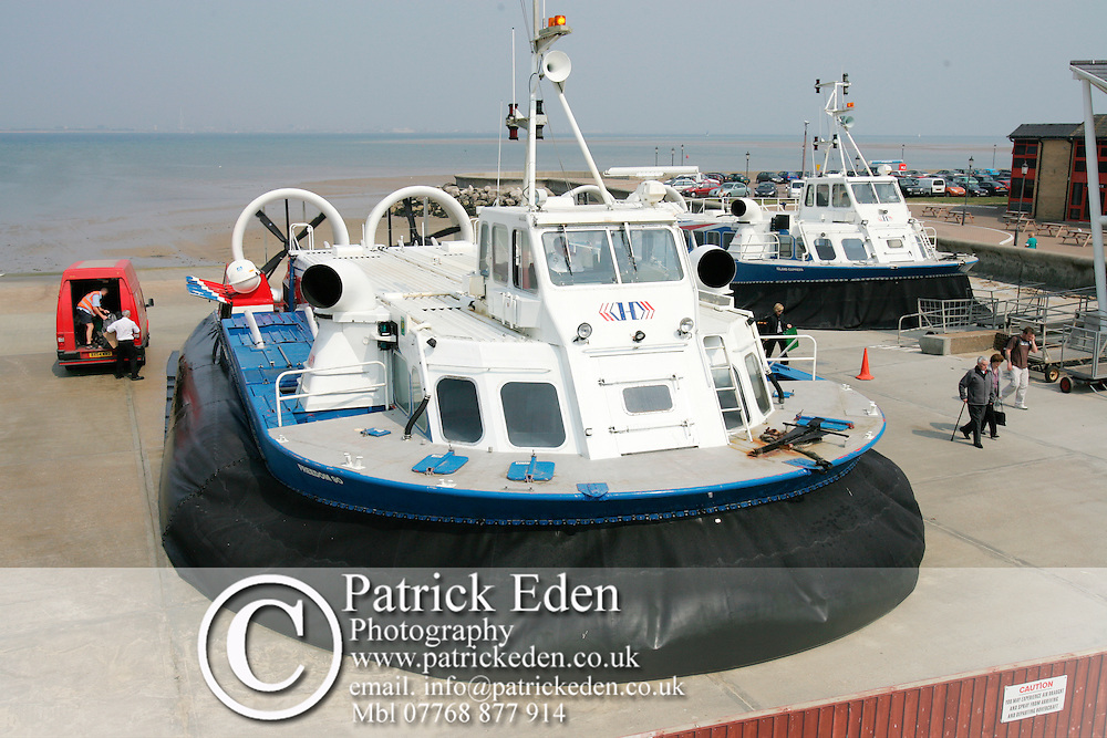 Hovertravel Hovercraft service Ryde Portsmouth Photographs of the Isle of Wight by photographer Patrick Eden photography photograph canvas canvases