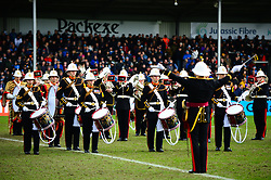 Half time band - Mandatory by-line: Dougie Allward/JMP - 23/02/2020 - RUGBY - Sandy Park - Exeter, England - Exeter Chiefs v Northampton Saints - Gallagher Premiership Rugby